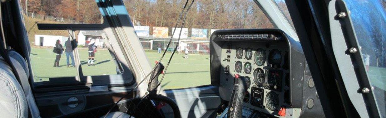 EFC Kronberg Helicopter Besuch